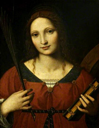 Bernardino Luini - Saint Catherine - Isabella of Aragon, 1470-1524.  http://www.kleio.org/en/history/monalisa/ml_fakten.html