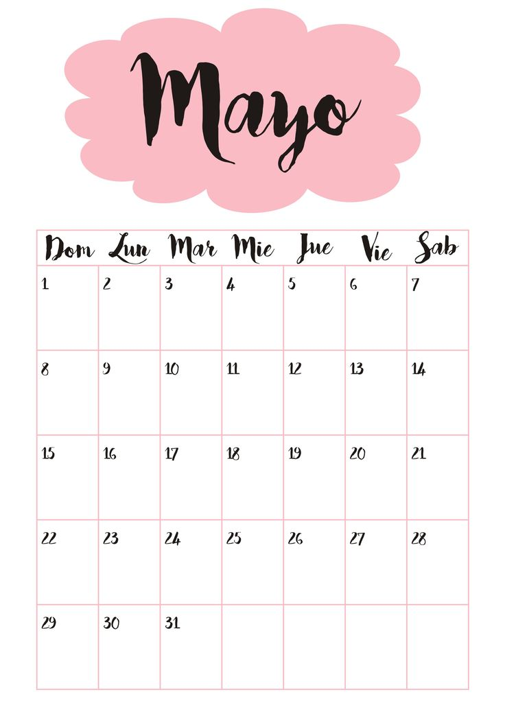 Calendario 5 Mayo ☼