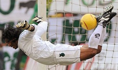 Higuita Colombia, because saving goals with your hands is too mainstream