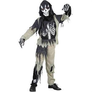 Skelet udklædning til Halloween og fastelavn. Køb kostumer og parykker i Partybutikken. #fastelavn #halloween #kostume #temafest