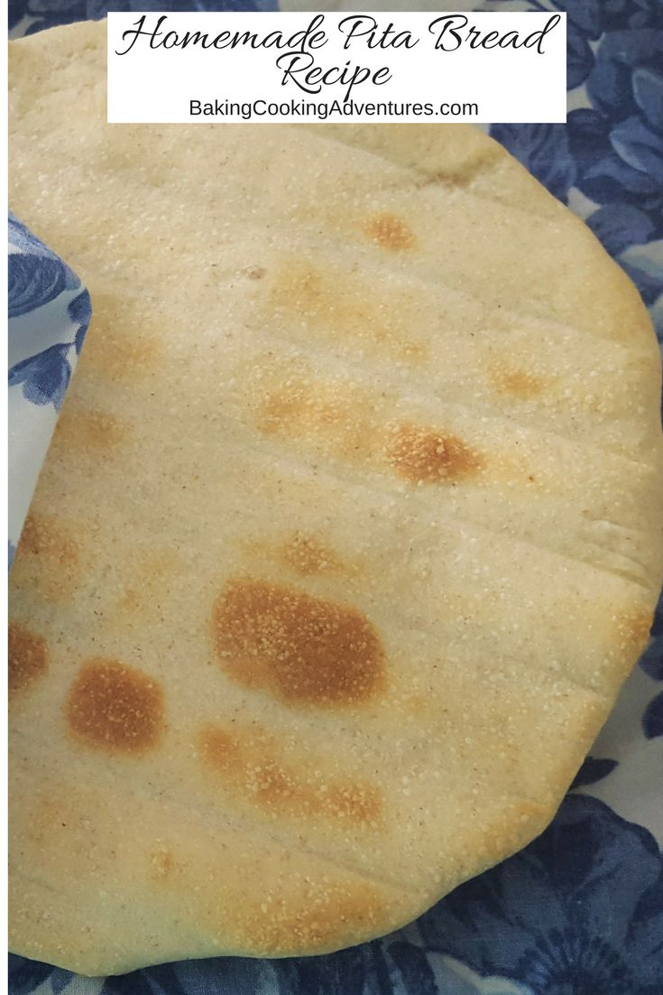 Homemade Greek pita bread.  How to make pita bread at home.  How to keep or make pita bread soft.