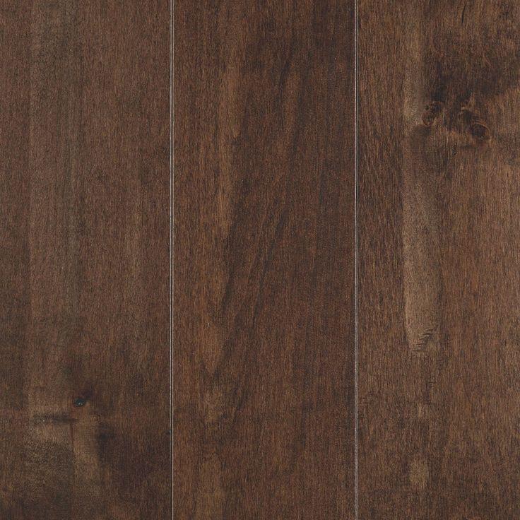 "Solid Hardwood Flooring - Solandra Collection - Whiskey / Maple / 5"" / Textured Finish"