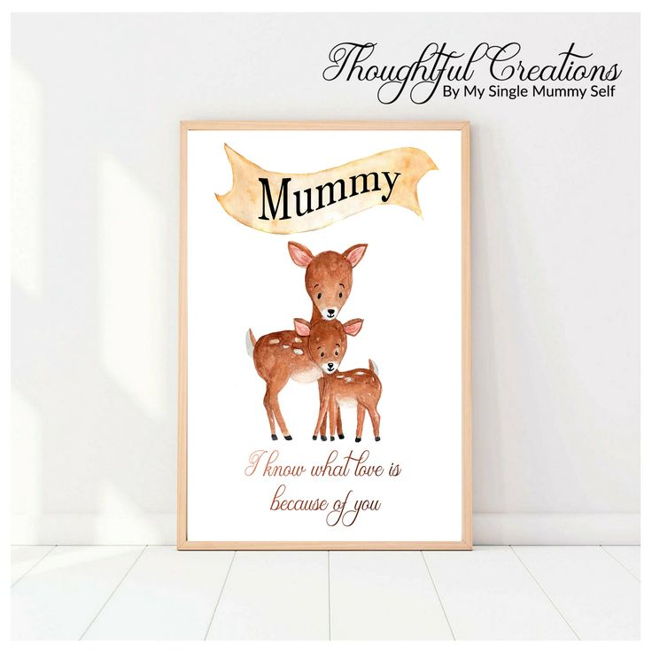 Excited to share the latest addition to my #etsy shop: Personalised Gift for Mum, Personalised Wall Art, Personalised Print, Mum and Baby Print, Home Decor, Watercolour Animal, Gift for Mum http://etsy.me/2jLuWYl #housewares #homedecor #printingprintmaking #bedroom #personalisedp