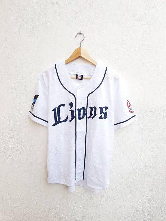 Vintage 90s Saitama Seibu Lions Japan Baseball Printed Logo