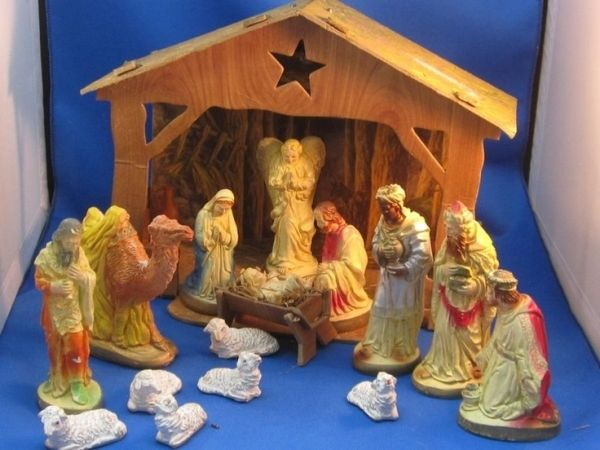 19 Best Vintage Christmas Nativity Sets Images On Pinterest Christmas Nativity Set Nativity