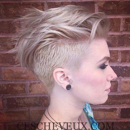 Coiffure Undercut court pour Blond HairShort Coiffure dégagement pour les cheveux blonds