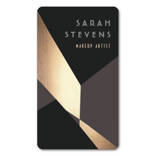 Art Deco Graphics on business card- Gold foil finish