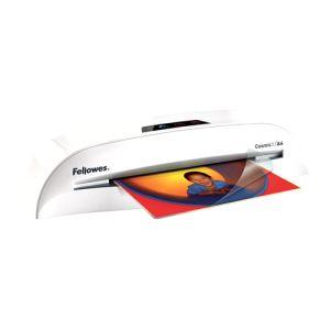 Plastificadora FELLOWES COSMIC-2 A-4.   Ideal para un uso moderado en la pequeña oficina o el hogar.  Plastifique documentos y fotos hasta tamaño A-4 gracias a su tecnología de 2 rodillos calientes.