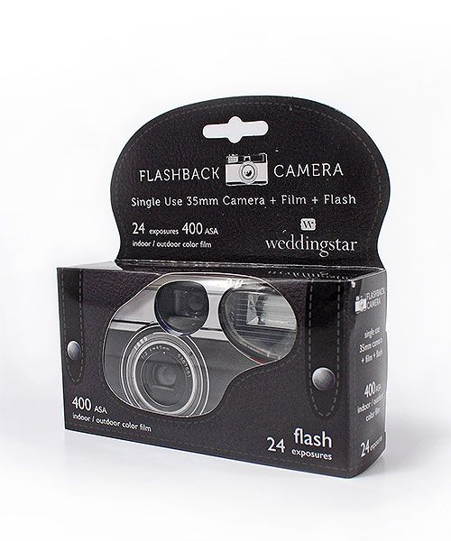 Vintage design disposable camera to capture all those special moments.