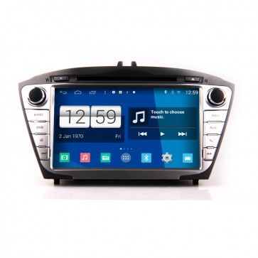 Autoradio GPS DVD HYUNDAI 2014 IX35 low S160 Android 4.4.4 avec HD Ecran tactile Support Smartphone Bluetooth kit main libre Microphone RDS CD SD USB 3G Wifi TV MirrorLink