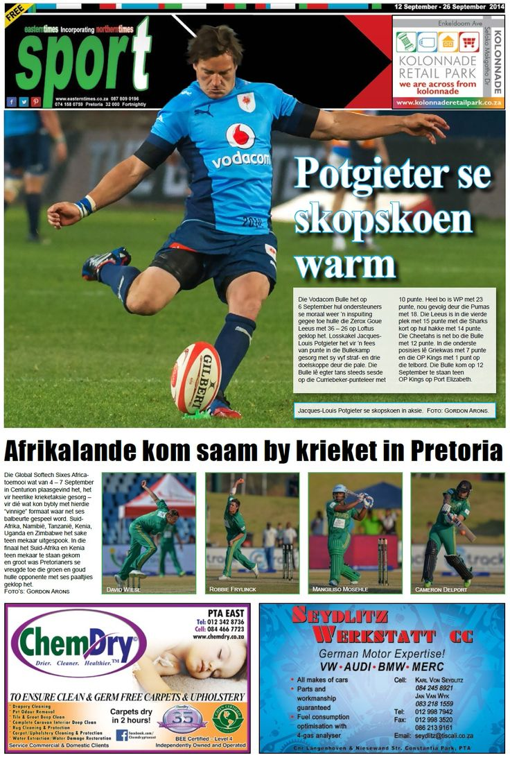 sport page 12 - 26 September