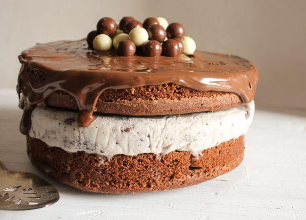 nutella kit kat oreo icecream cake