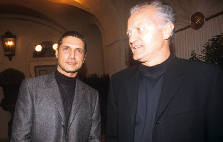 Antonio D'Amico y Santo Versace, en 1998.