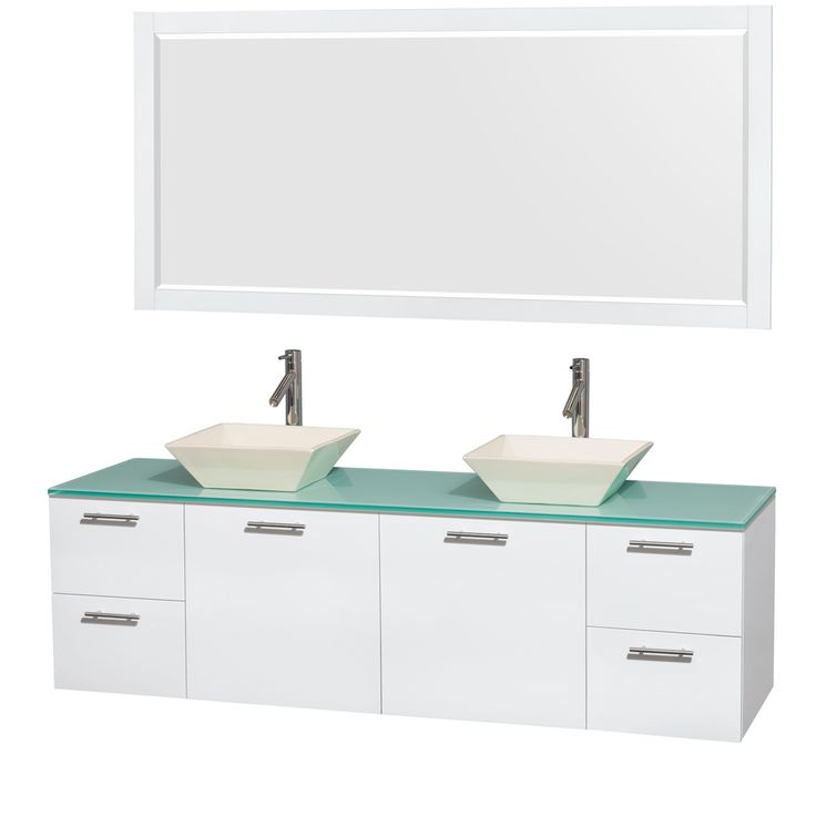 Website Photo Gallery Examples Wyndham Collection Amare In Double Bathroom Vanity in Glossy White Green Glass Top Bone Porcelain Sinks In Mirror Home Depot Canada