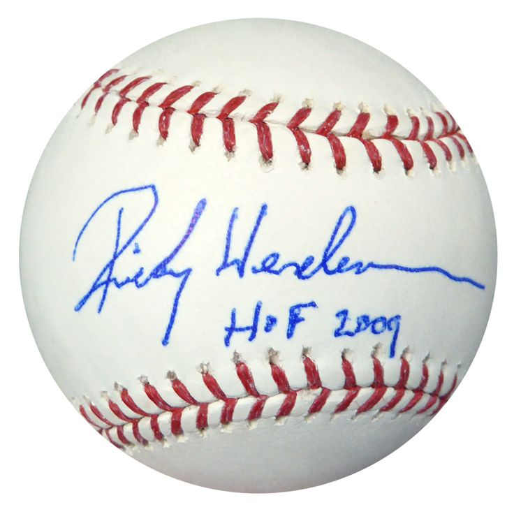 "Rickey Henderson Autographed Official MLB Baseball A's ""HOF 2009"" PSA/DNA"