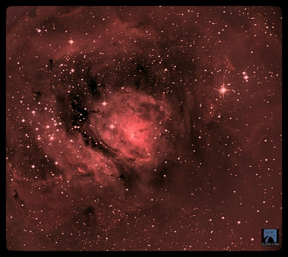 M8 was captured by an amateur astronomer, Dave Lrkn, using the Slooh Space Camera, an online night sky observing service that allows users to observe the sky using telescopes around the world.