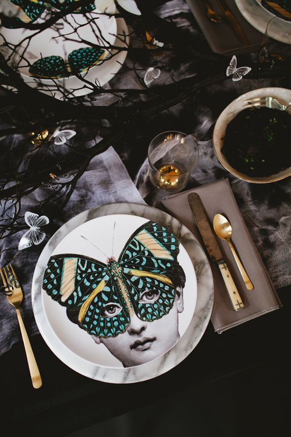 the butterfly ball halloween masquerade tabletop | coco+kelley