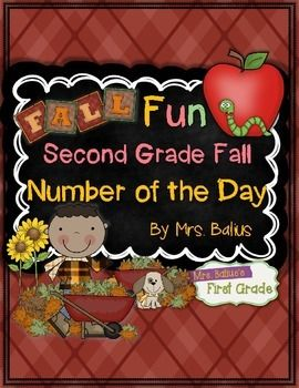 Finally here!  Second Grade Fall Number of the Day!  It gives your students a lot of practice working with numbers, representation and relationships. All students need daily practice working with numbers to effectively develop their number sense.