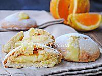 Bomboloni di frolla all'arancia con crema
