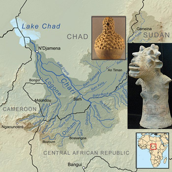 The Sao civilization may have begun as early as the sixth century BCE, and by the end of the first millennium BCE, their presence was well established south of Lake Chad and near the Chari River.