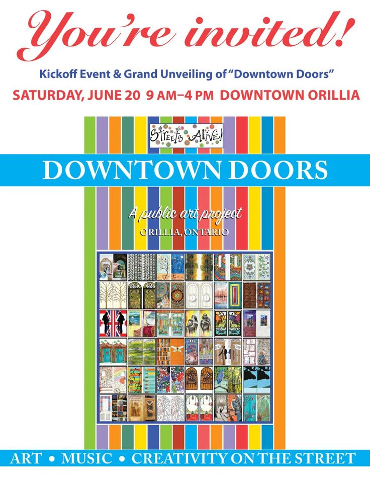 Join in for the kick off of Doors of Orillia, Streets Alive Public Art