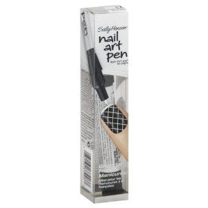 Sally Hansen Nail Art Pen, Pearly White 12 0.067 fl oz (2 ml) by Sally Hansen. $6.92. Great for French manicures! Design, seal & go! Express yourself! Now you can be creative with your nails in seconds! Just press pen point to activate nail color and start designing on your nails! Fine-tip pen makes it easy to control and draw precise lines for a French Manicure. Great for designing pedicures, too! Pen made in China. Assembled in USA.