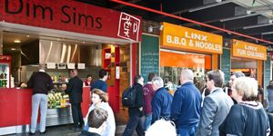 #SouthMelbourne #DimSims - big, delicious, naughty and a #Friday staple at PPHQ. You'll find one of us in the line every week. Make sure you add soy and chilli sauces to the messy delight! #food #chinese #yum