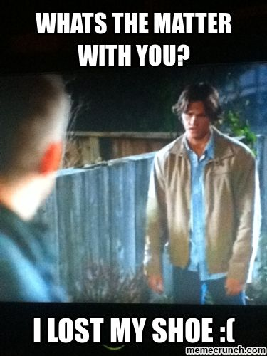 He was so cute and pitiful!! Supernatural Memes | Supernatural Memes Memebase