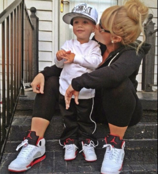 Matching Jordan's with his mom!