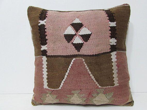 20x20 kilim pillow livingroom contemporary cushion kilim pillowcase natural kilim pillow case sofa pillow case interior rug decorating 27135