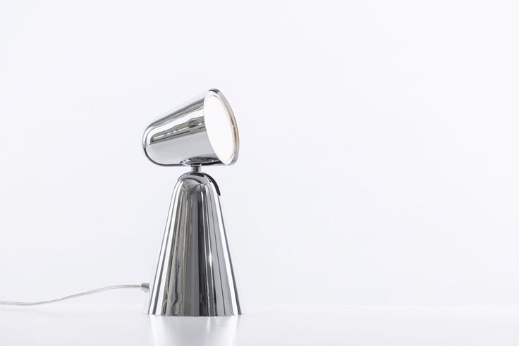 PEPPONE Table Lamp in Chrome. Rotatable Head. Design by Benjamin Hopf. Available in many different colors at www.formagenda.com