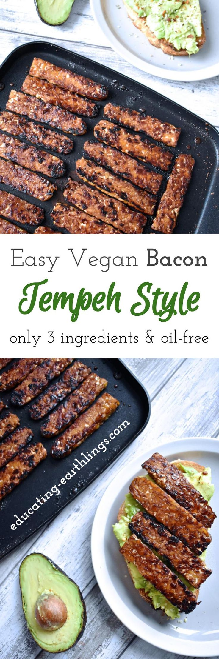 easy vegan bacon tempeh style