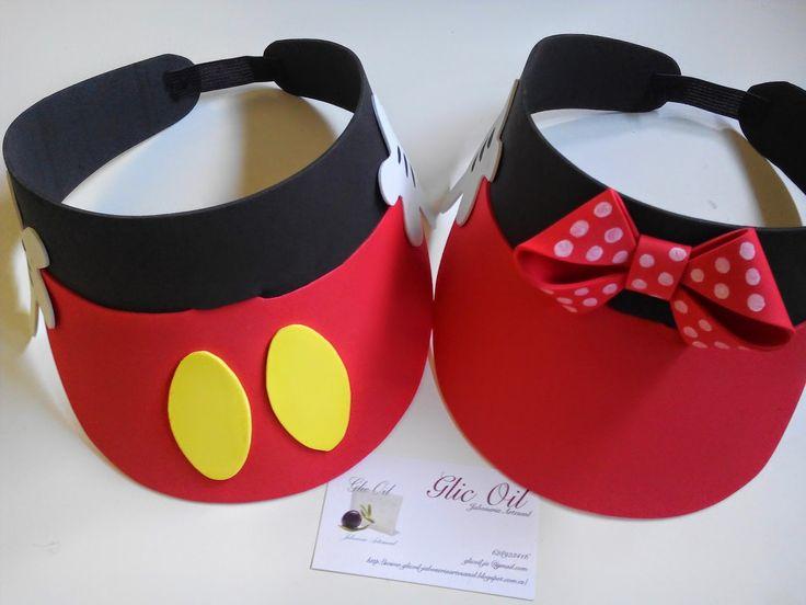 GlicOil Jabonería Artesanal: Viseras de Mickey y Minnie en foamy
