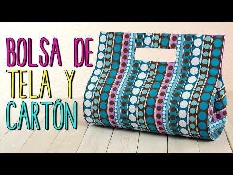 Bolsa de Tela y Cartón - Paso a Paso Sin coser - De Cartón Reciclado - Cartonaje - YouTube