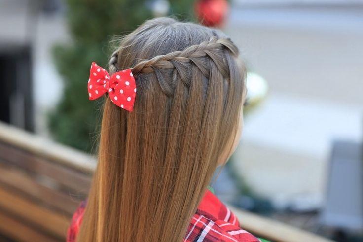 Kinderfrisuren mit Schleife - süße Idee für Mädchen mit langen Haaren