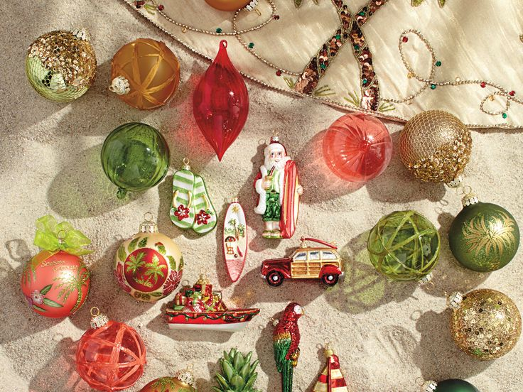 Caribbean themed decorations for Christmas. I know it's not food but it's Caribbean and it IS Christmas season :-)