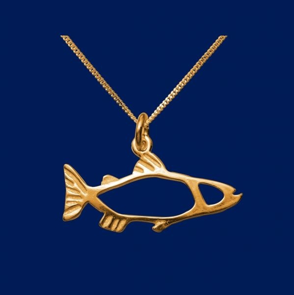 The Salmon, small pendant, gold