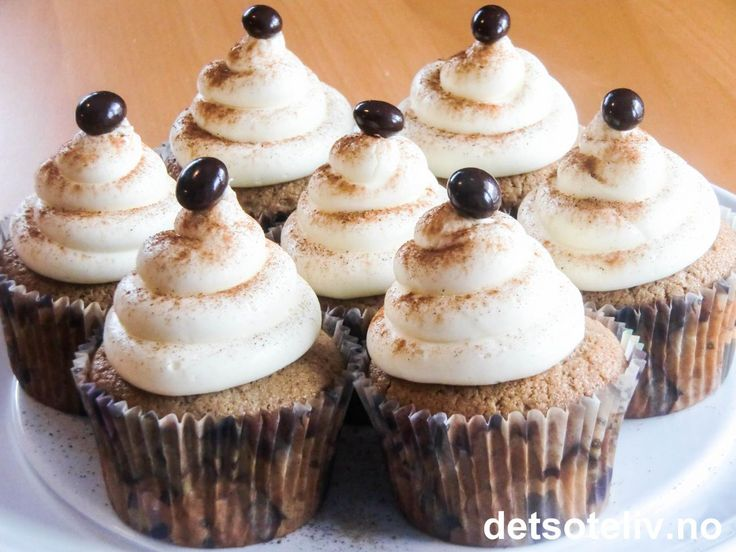 Caffe Latte Cupcakes | Det søte liv