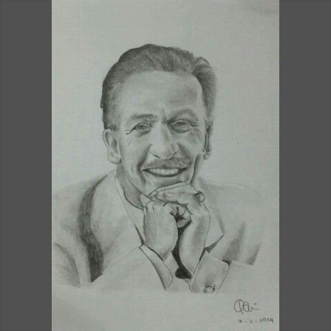 Walter Elias Disney 1901-1966  A5 paper, graphite pencils