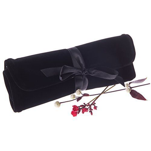 New Trending Luggage: Jewelry Travel Roll Up Organizer Accessory Bag with Compartments-Soft Black Velvet by Bella Dee. Jewelry Travel Roll Up Organizer Accessory Bag with Compartments-Soft Black Velvet by Bella Dee  Special Offer: $19.70  211 Reviews Looking for a Jewelry Organiser for Travel ? It's easy with a Jewelry Travel Roll. Soft black Velvet with a elegant Satin Bow tie closure, the...