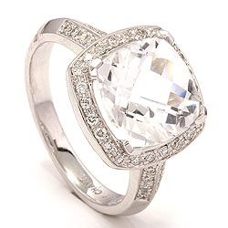 Diamant ring in 14 karaat witgoud 0,27 ct 4,00 ct