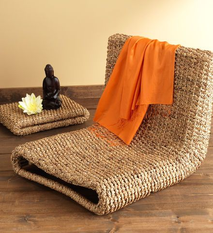 for my new meditation room. Water Hyacinth Meditation Chair & Tray