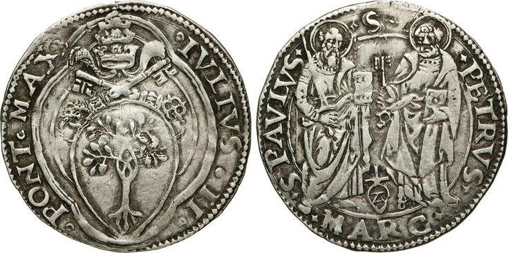 NumisBids: Numismatica Varesi s.a.s. Auction 65, Lot 748 : GIULIO II (1503-1513) Giulio s.d., Ancona. D/ Stemma R/ I SS....