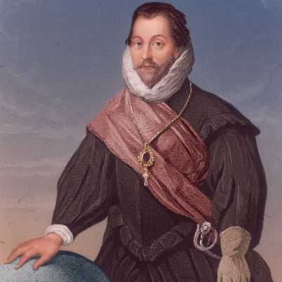 Sir Francis Drake, Vice Admiral (1540 – 27 January 1596) was an English sea captain, privateer, navigator, slaver, and politician of the Elizabethan era. Elizabeth I of England awarded Drake a knighthood in 1581. He was second-in-command of the English fleet against the Spanish Armada in 1588. He also carried out the second circumnavigation of the world, from 1577 to 1580. He died of dysentery in January 1596 after unsuccessfully attacking San Juan, Puerto Rico.