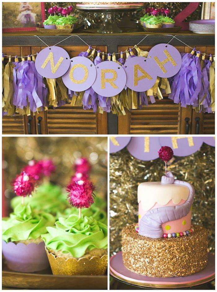 Lavender and Gold Horton Hears a Who Elephant Birthday Party via KarasPartyIdeas.com #horton #elephant #drseuss #lavenderandgold