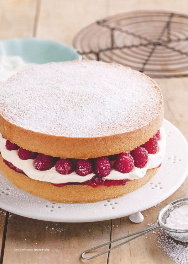 jam & cream sponge cake ~ by Donna Hay
