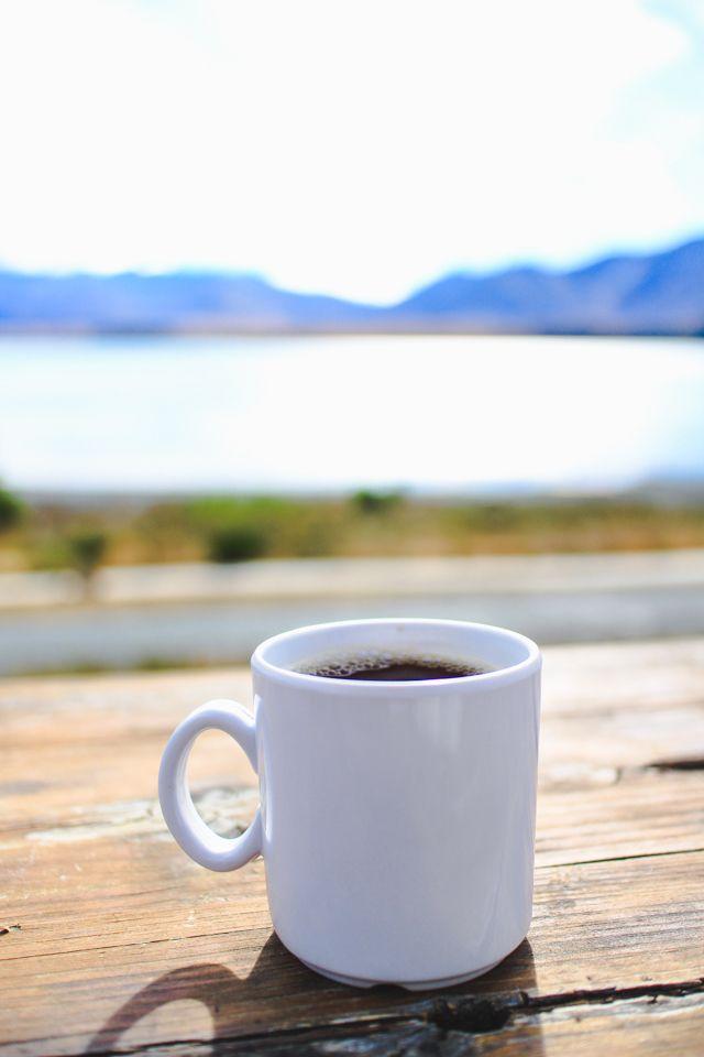 Good morning coffee   camping in Lake Tekapo, New Zealand #travel #newzealand