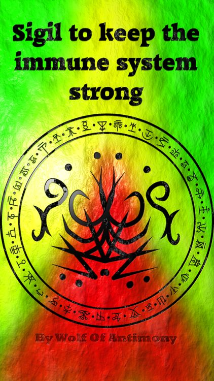 Sigil to keep my immune system strong