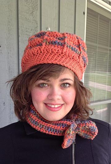 Crochet hat and cowl, crochet headband, coral hat set, orange crochet hat by #onceuponaroll #zibbetflash - $25.00