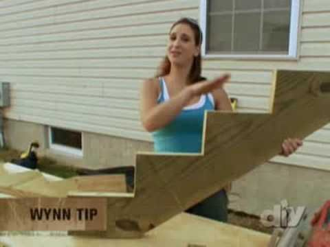 Building Exterior Wooden Stairs ... something I want to try doing myself...it looks like i'd be able to do it, just need some 'girly' tools(not so big and bulky/heavy)...